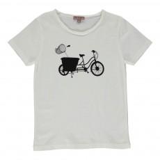 Exclusivité - T-shirt Vélo Ecru