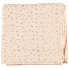 Couverture fleurs Cocon - Rose pâle