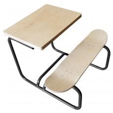 Bureau Skateboard Gris
