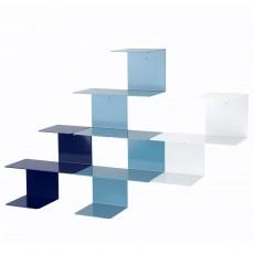 Etagères Linette - Bleu et bleu marine