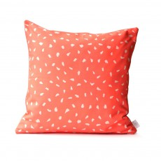 Coussin plumes - Corail