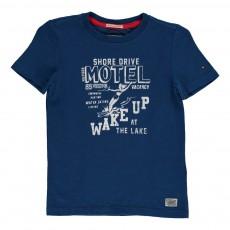 T-Shirt Fun Wake Up Bleu roi