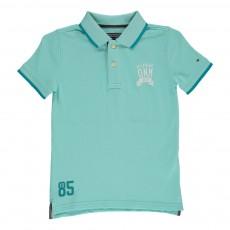 Polo Badge Bleu