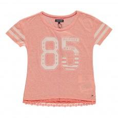 T-Shirt Bibi Rose pêche