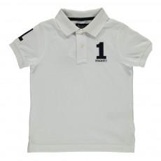 Polo Piqué Numéro 1 Blanc