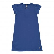Chemise de nuit à pois Maracas Bleu