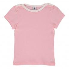T-shirt Basic Encolure Amiral Rose