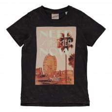 """T-shirt """"Need Summer Now"""" Noir"""
