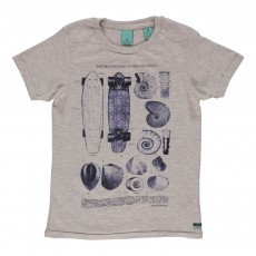 T-shirt Skate & Coquillages Gris chiné