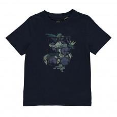 T-Shirt Coton Biologique Lunettes Bleu indigo