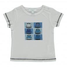 T-shirt Voitures Bébé Blanc