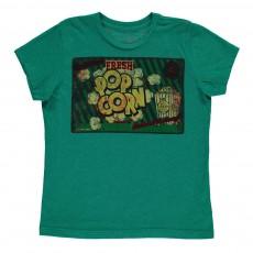T-Shirt Popcorn Vert