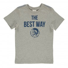 "T-Shirt Slim ""The Best Way"" Totty Gris chiné"