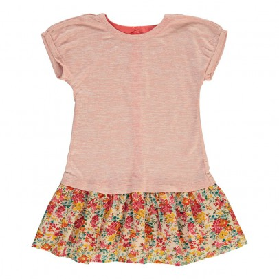 Online Shopping - Kids Bargains|C¨¦line two materials dress Coral