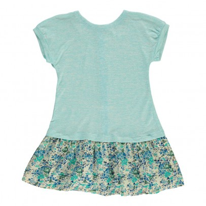 Online Shopping - Kids Bargains|C¨¦line two materials dress Turquoise
