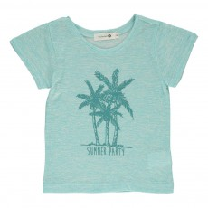 "T-shirt ""Summer Party"" Edith Bleu turquoise"