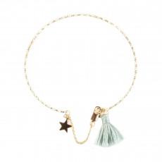 Bracelet Pompom Etoile Bleu