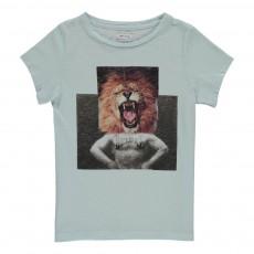 T-shirt Lion Bleu ciel