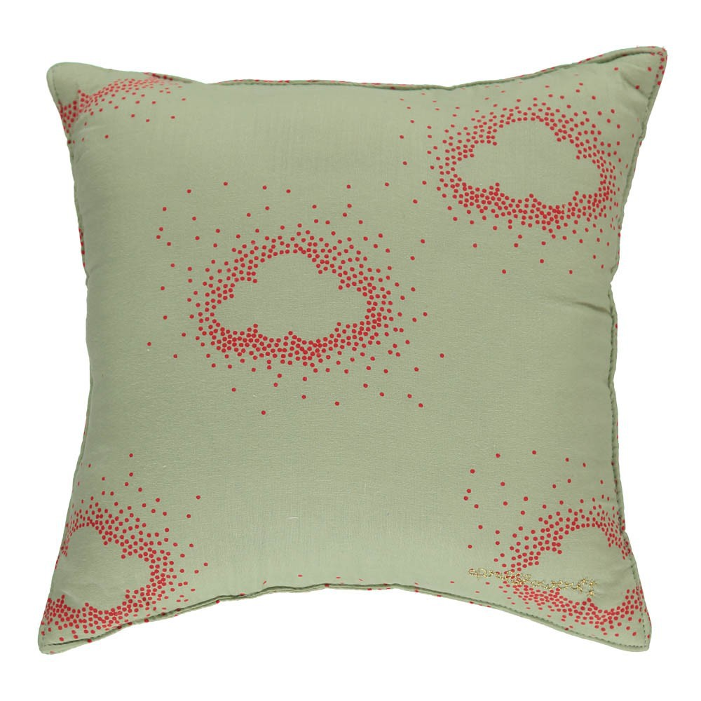 coussin r versible dentelle et nuages corail et vert d 39 eau april showers d coration smallable. Black Bedroom Furniture Sets. Home Design Ideas