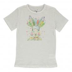 T-shirt Coton Bio Lapin Blanc