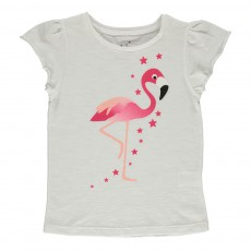 T-shirt Coton Bio Flamand Rose Ivoire