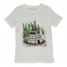 T-shirt Coton Bio Tipi Blanc