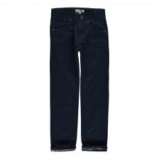 Pantalon Revers Tartan Bleu indigo