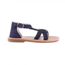 Sandales Suede Bleu