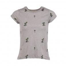 T-shirt Palmiers Peanut Gris chiné