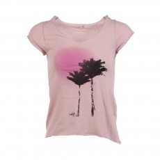 T-shirt Palmiers Nicky Rose pâle