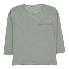 T-shirt Manches Longues Moucheté Ecru