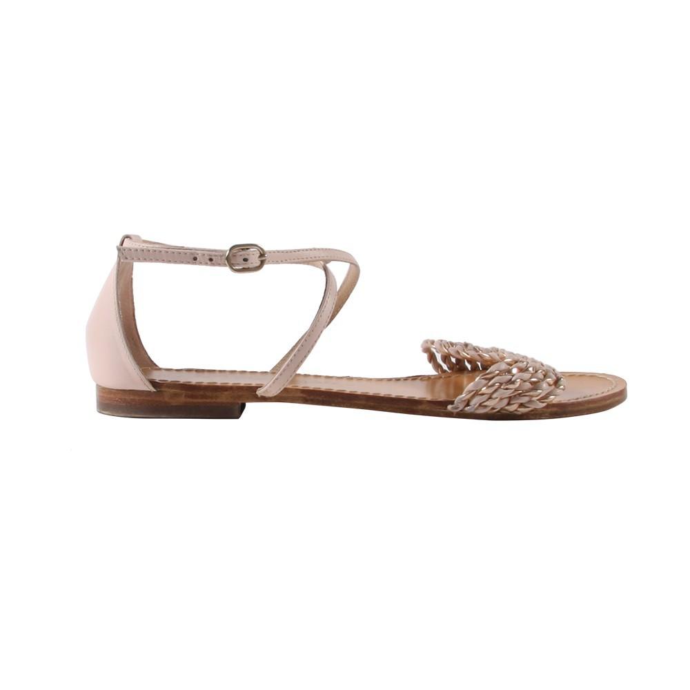 sandales cuir papillon rose poudr petite mendigote chaussures smallable. Black Bedroom Furniture Sets. Home Design Ideas