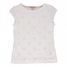 T-shirt Broderie Anglaise Blanc