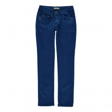 Pantalon Slim Cassis Bleu