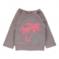 Sweat Palmiers Soizic Rose