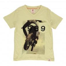 T-shirt Moto 1969 Jaune pâle