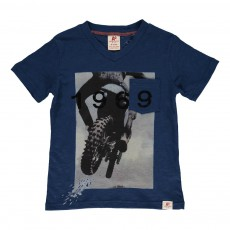 T-shirt Moto 1969 Bleu indigo