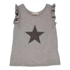 T-shirt Etoile Sequins Gris