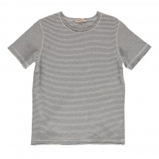 T-shirt Fines Rayures  Bleu indigo