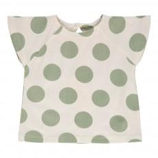 T-shirt Pois Nanu Vert argile