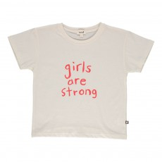 "T-shirt ""Girls Are Strong"" Blanc"
