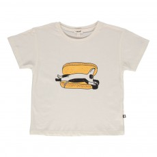 T-shirt Hot Dog Blanc