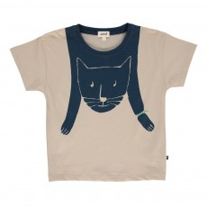 T-shirt Chat Gris clair