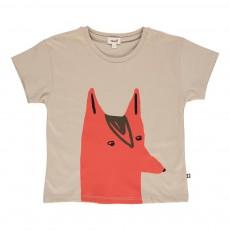 T-shirt Renard Gris clair