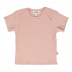 T-shirt Pois Rose poudré