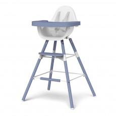 Chaise haute évolutive Evolu - Blanc/bleu