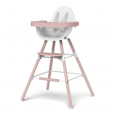 Chaise haute évolutive Evolu - Blanc/poudre