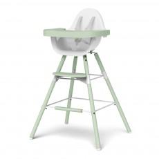 Chaise haute évolutive Evolu - Blanc/vert amande