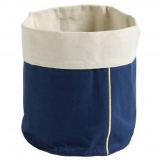 Panier bleu indigo broderie Or - Taille S