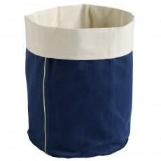 Panier bleu indigo broderie Or - Taille M